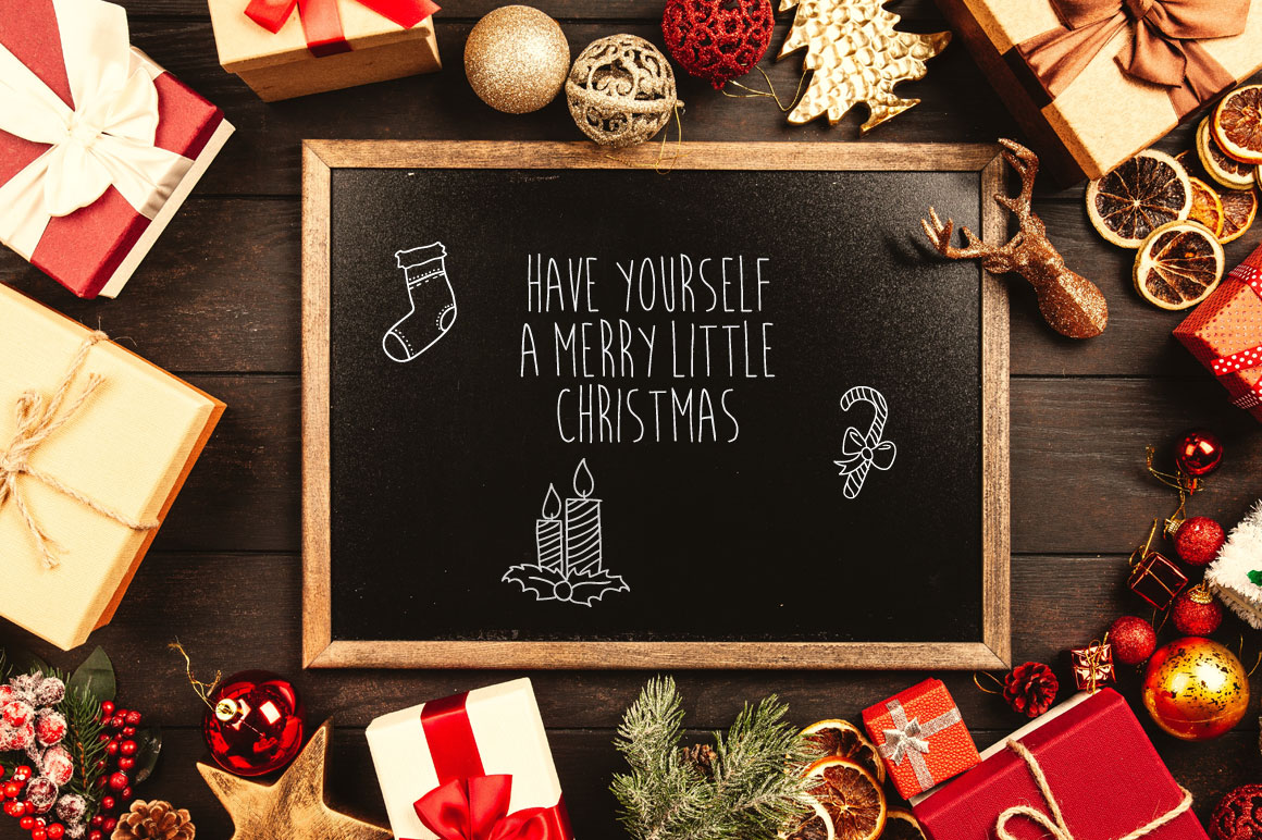 Candlestik Christmas Font & Extras example image 5