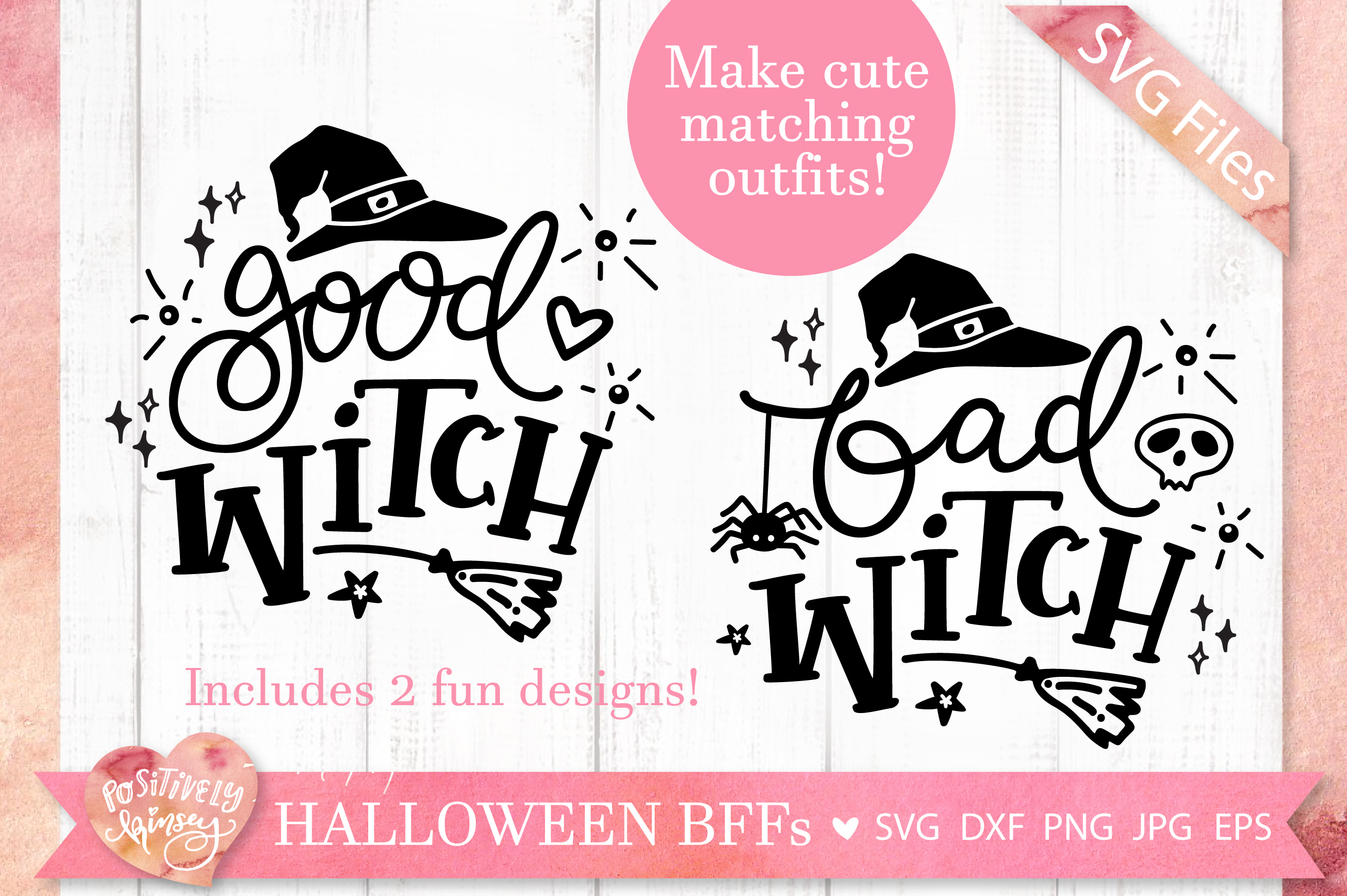 The Little Witch SVG Bundle, Halloween SVG DXF PNG EPS Files example image 5