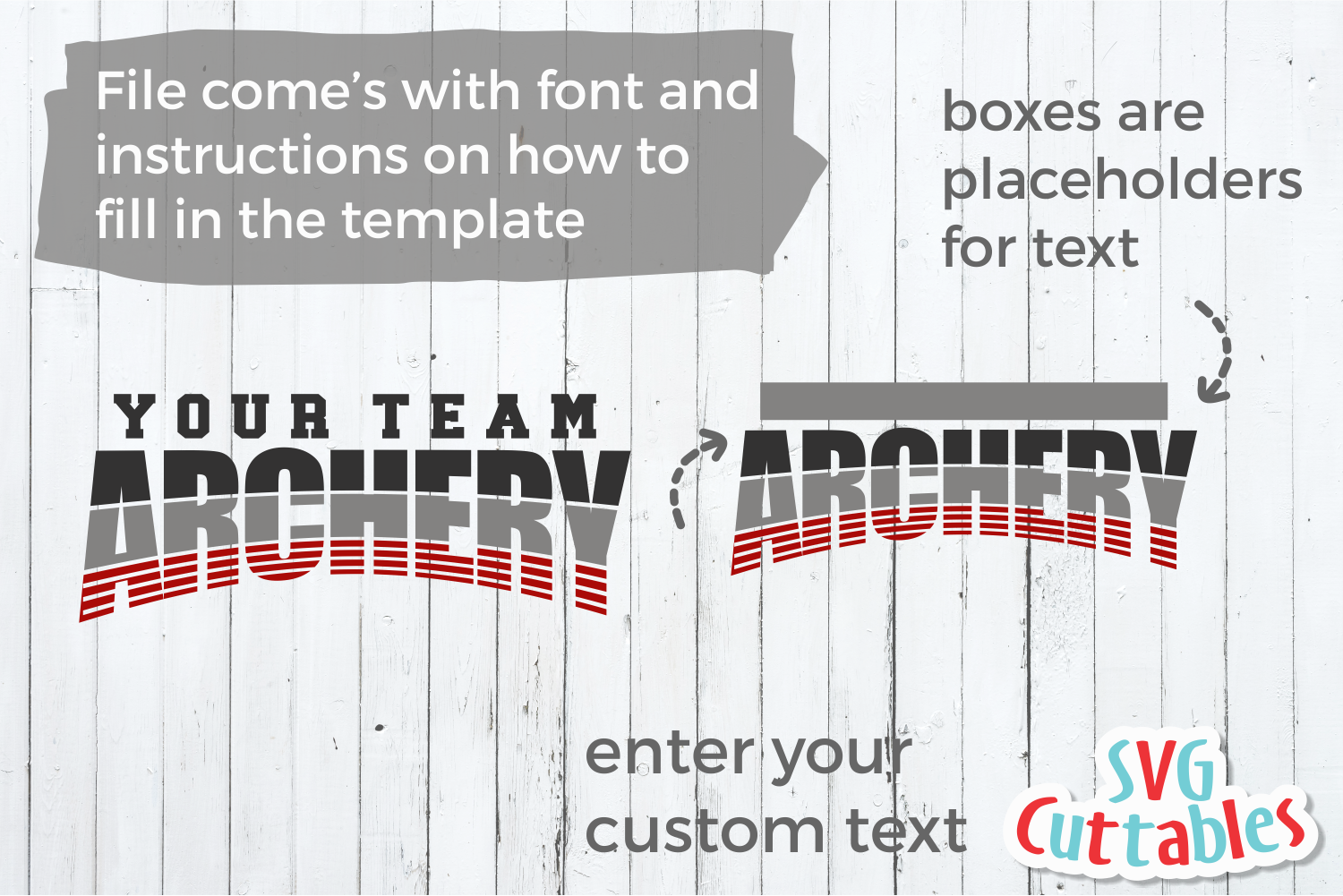 Archery Template 001| SVG Cut File example image 2