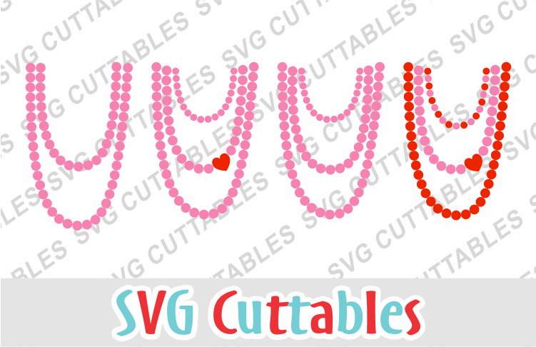 Valentines Day Necklaces svg cut file example image 1