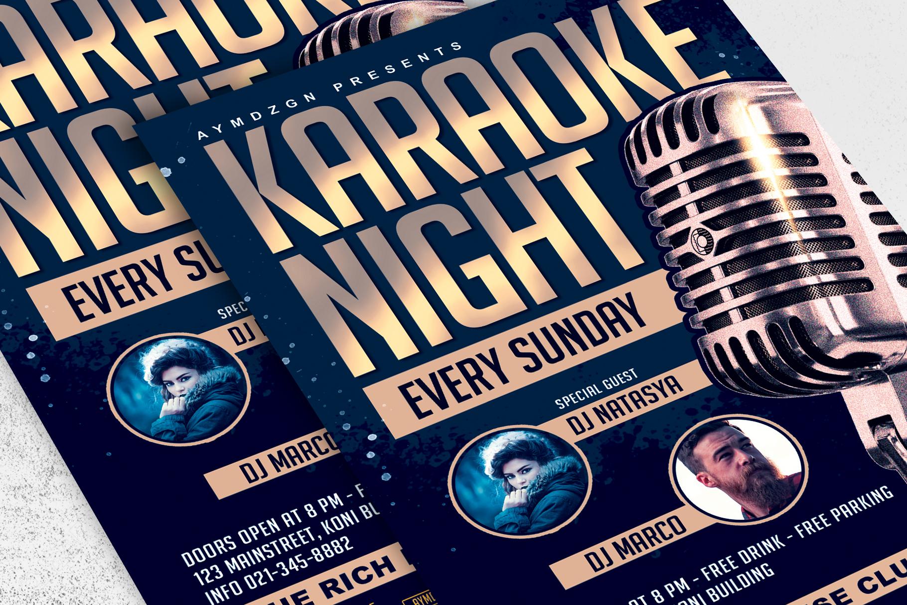 Karaoke Night Flyer example image 2