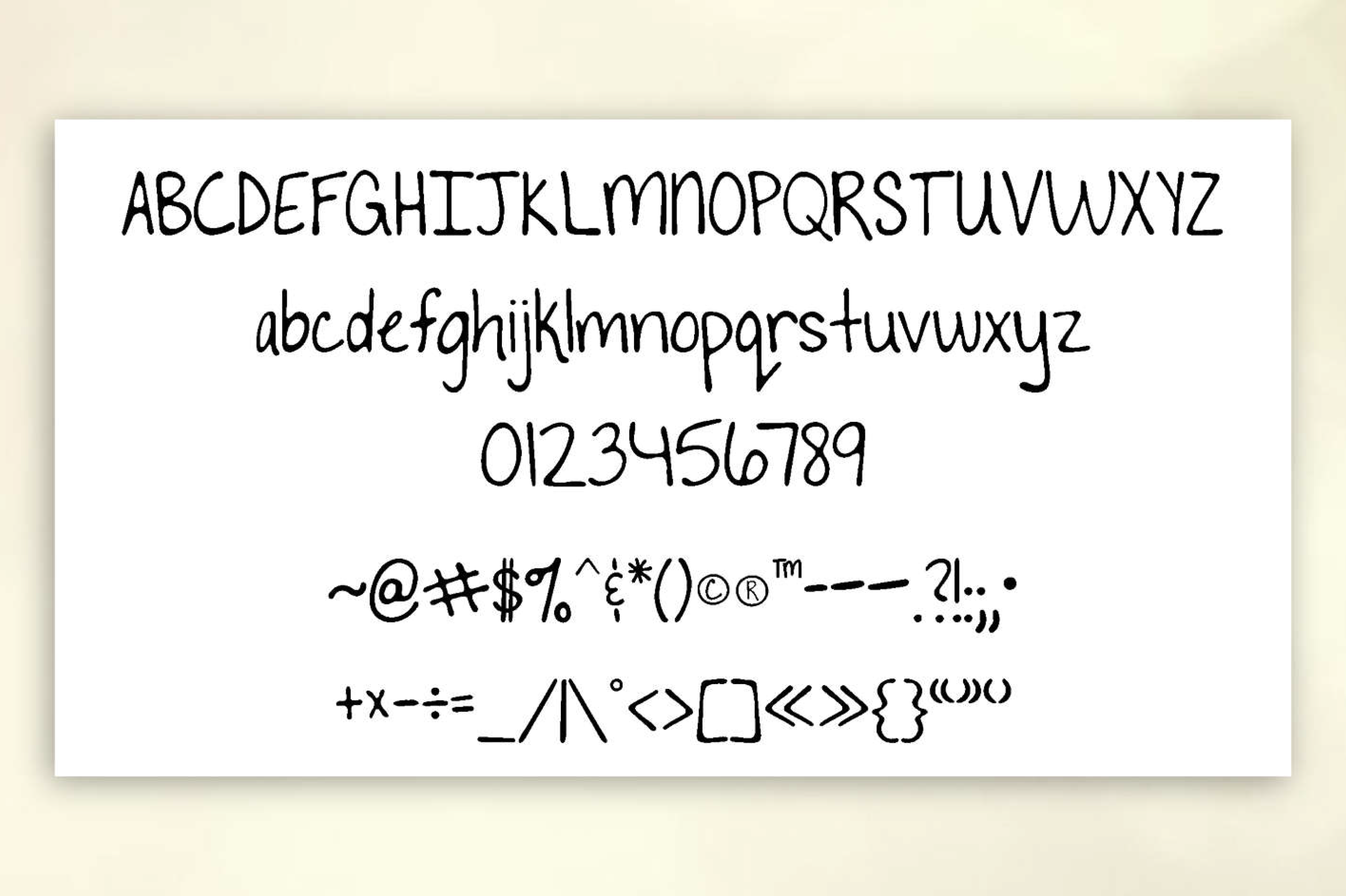 To The Point Hand Lettered Sans Serif Font example image 2