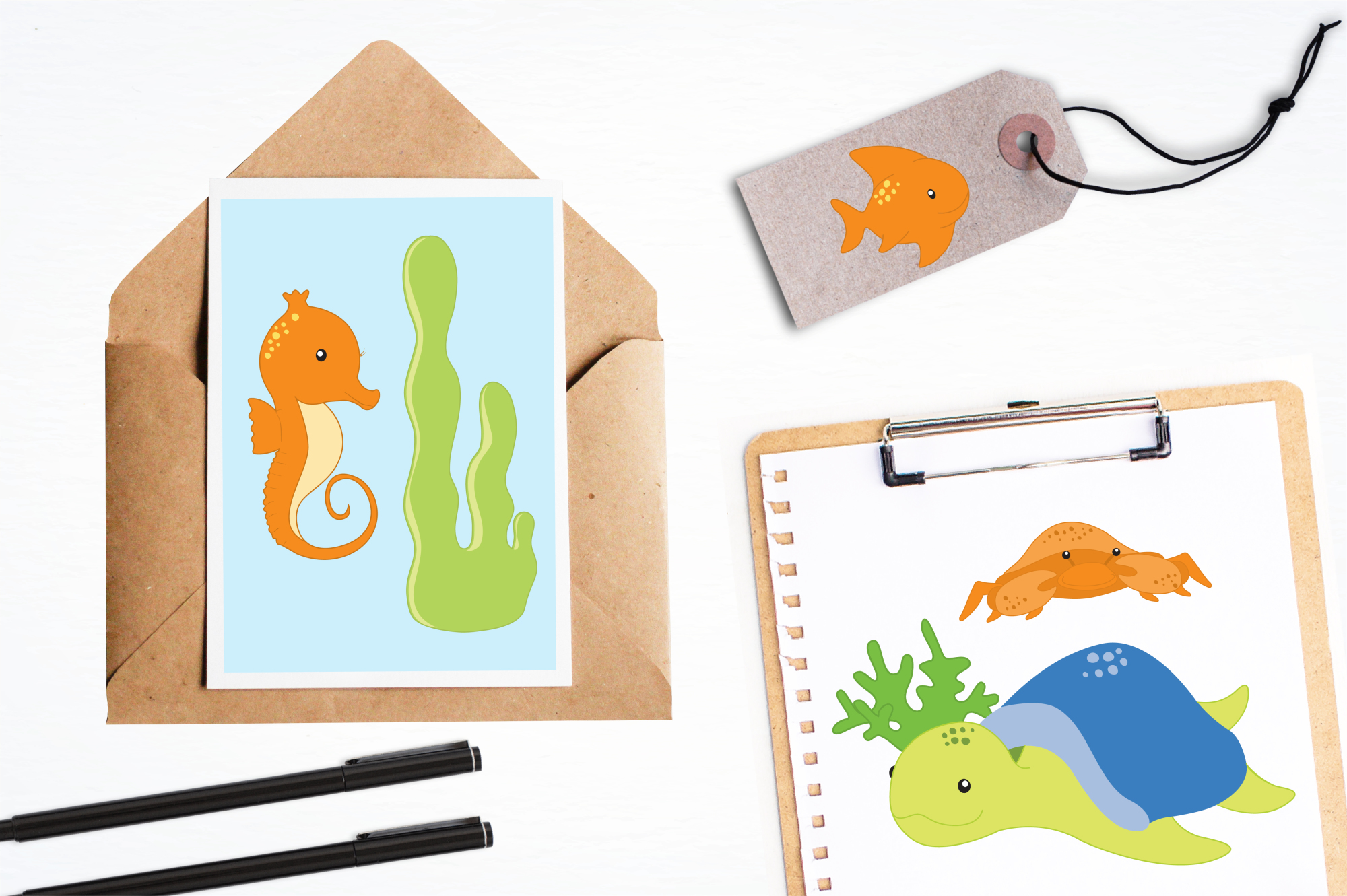 Sea Creatures Boys graphics and illustrations example image 4