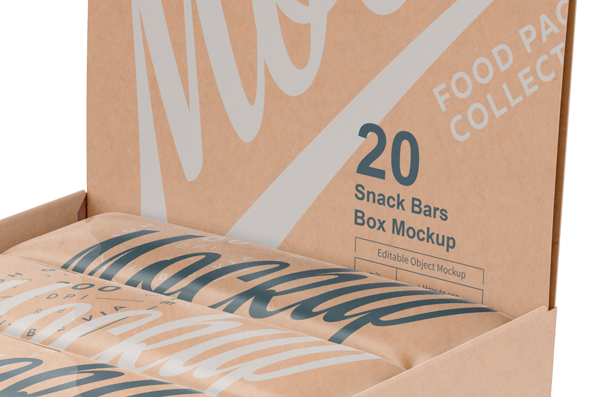 Kraft Snack Bars Box 20x80g Mockup example image 11