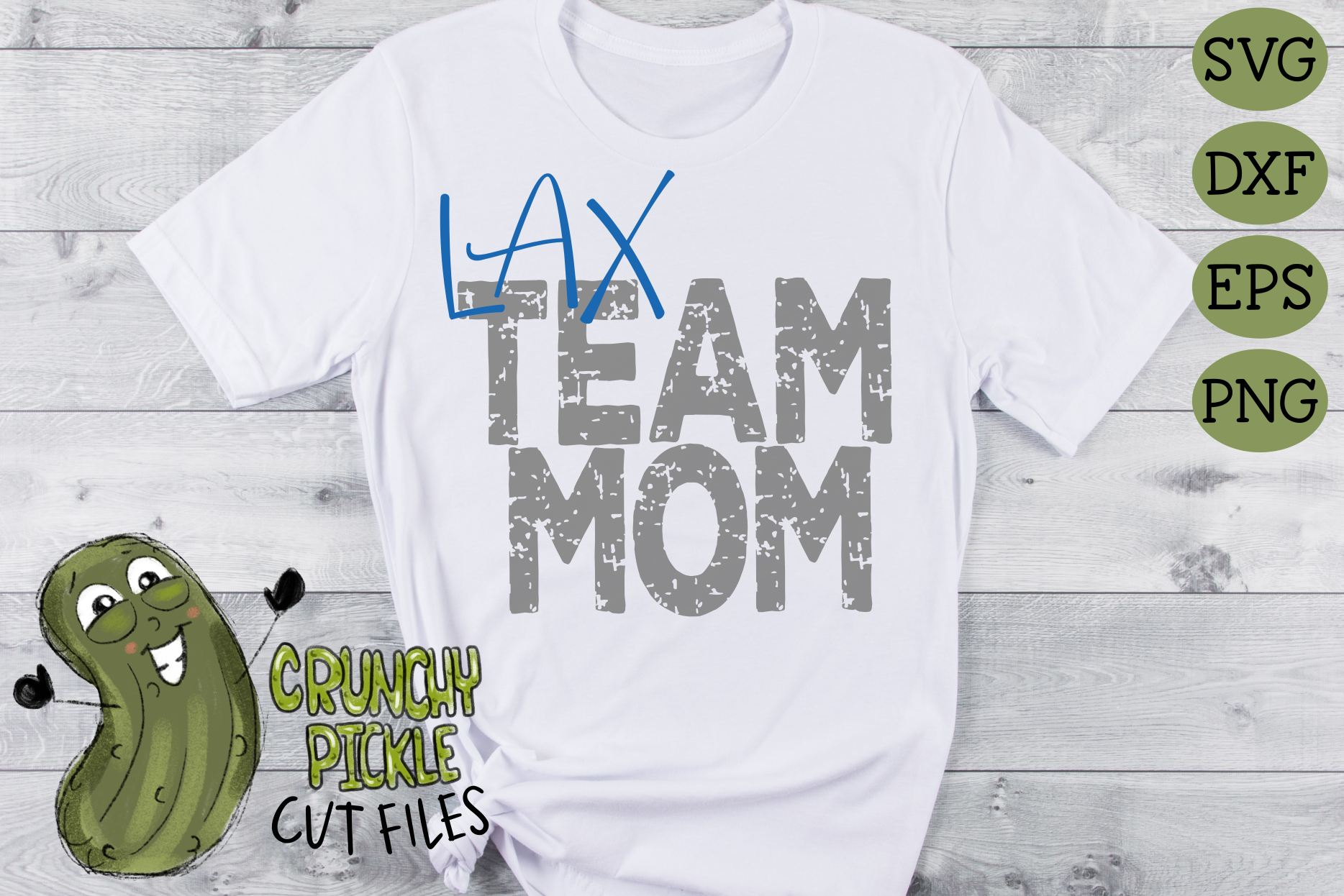 LAX Mom & Bonus Team Lacrosse Mom Sports SVG Cut File example image 3