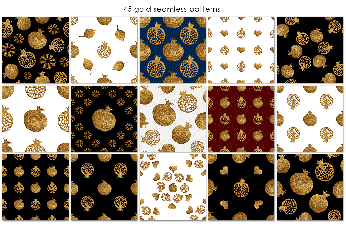 GOLD POMEGRANATE set example image 4