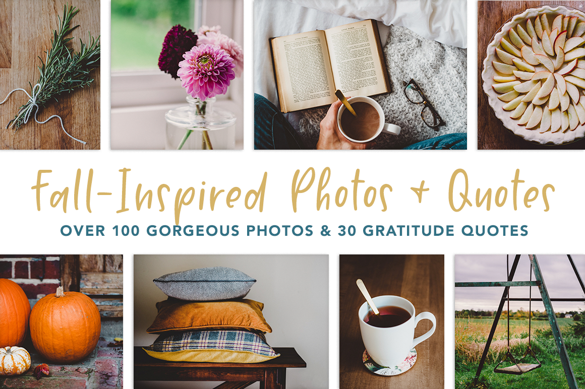 Fall-Inspired Photos & Quote Bundle example image 1