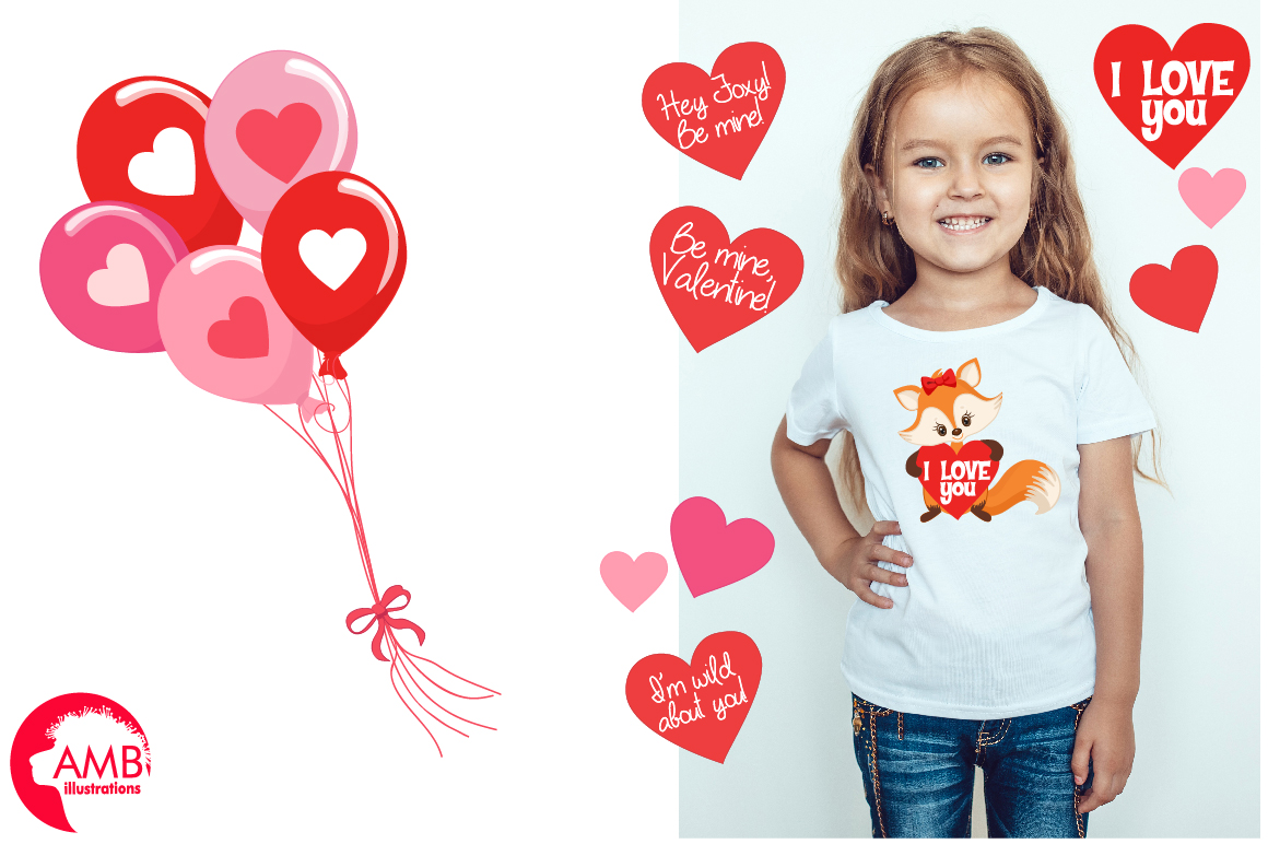 Valentine cliparts, graphics, illustrations AMB-1582 example image 4