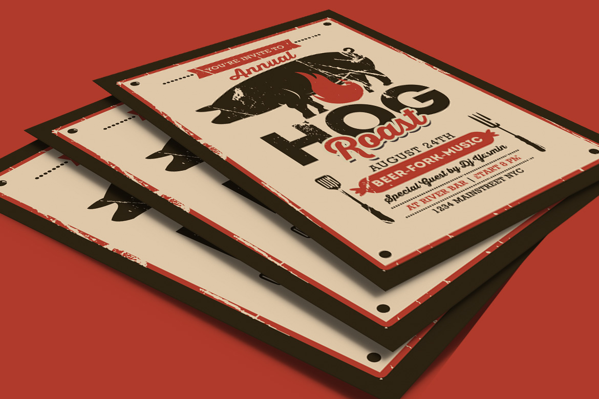 Pig Roast Event Flyer example image 4