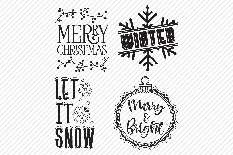 Christmas Bundle SVG, Cut Files, Christmas Shirt Design example image 5