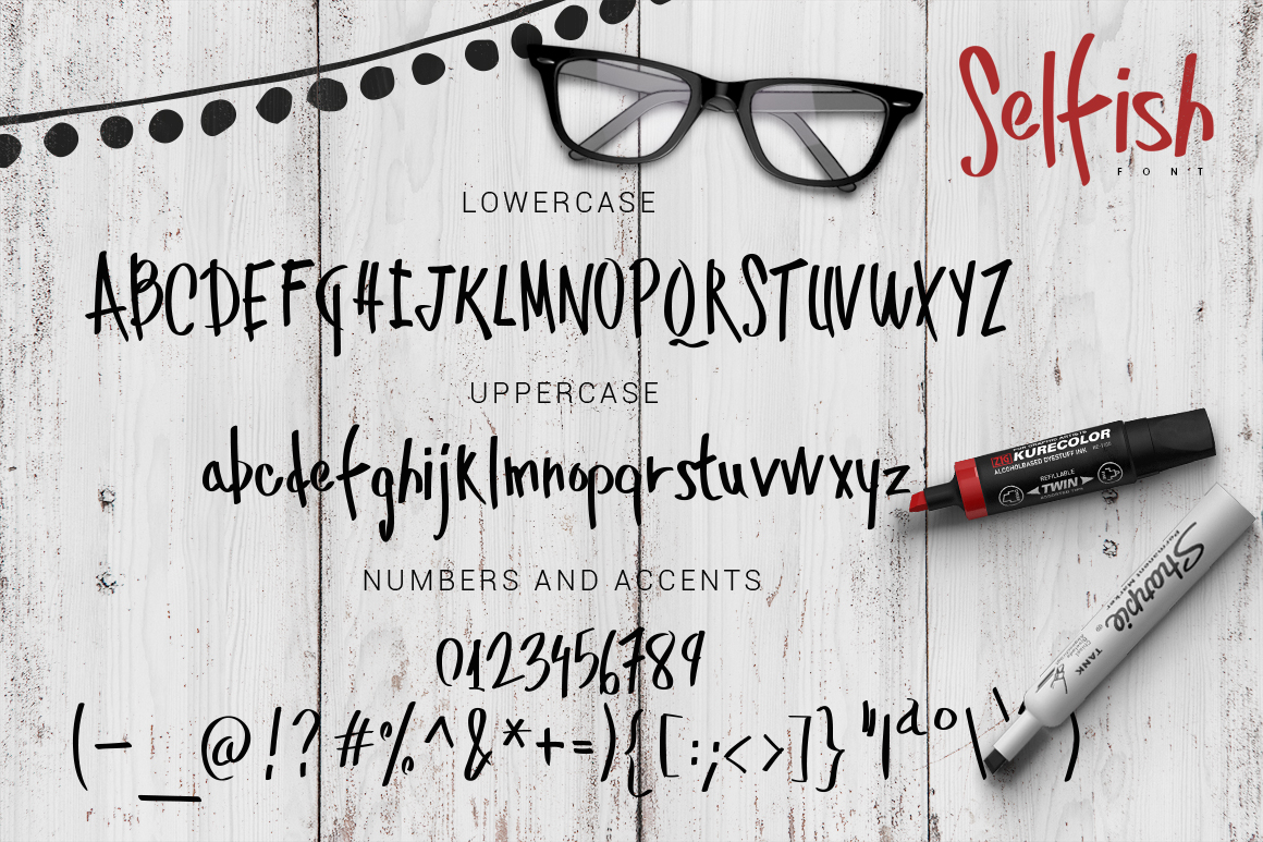 Selfish Font example image 2