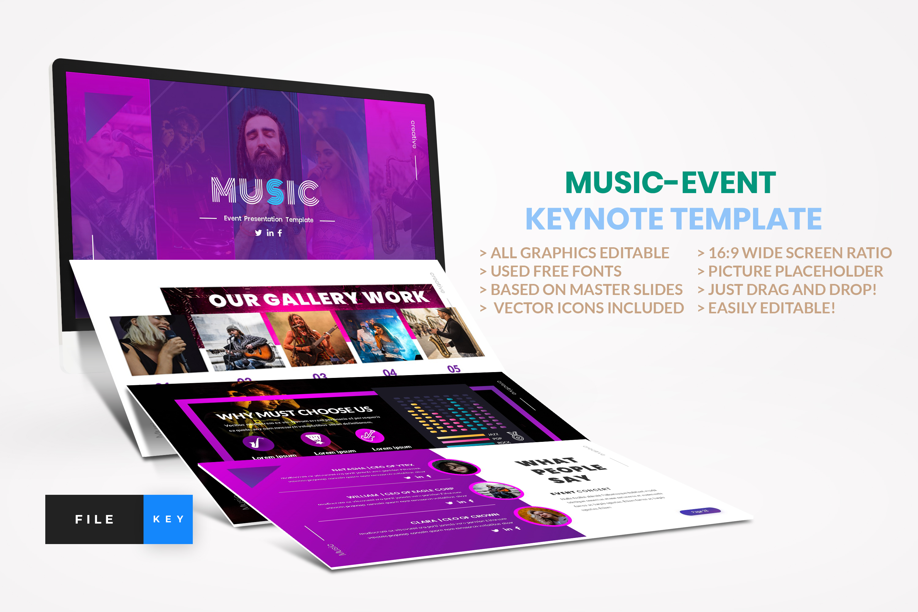 Music - Event Keynote Template example image 1