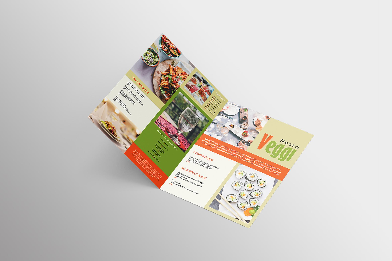 Vegan Menu Bifold Brochure A3 - AI/PSD Templates example image 12