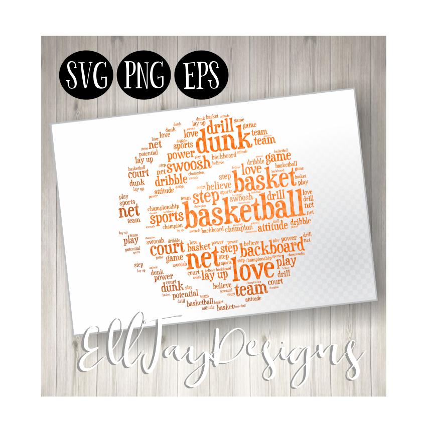 Basketball Word Art example image 1