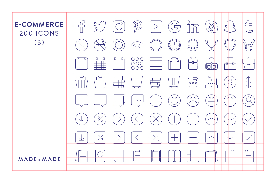 Line Icons - E-Commerce example image 5