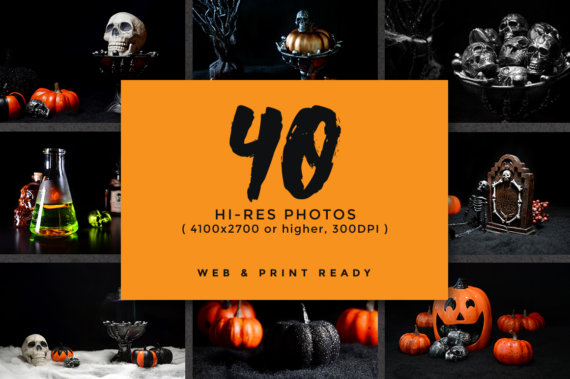 Halloween Backgrounds Ultimate Pack example image 3