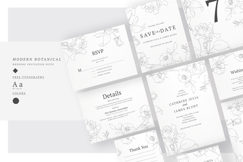 Wedding Invitation Suite - M.Botanic example image 3