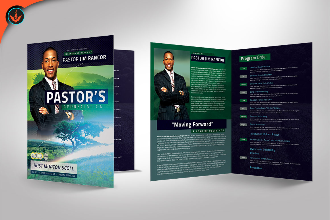 Modern Pastors Appreciation Program Photoshop Template example image 3