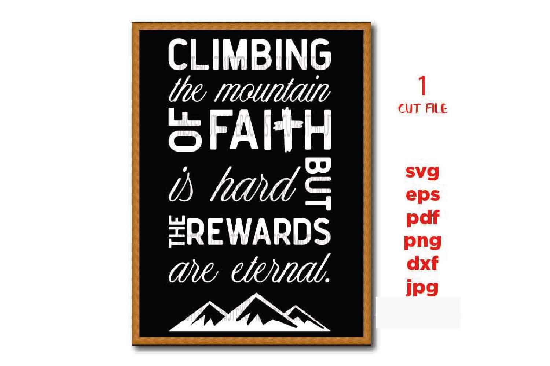 climbing the mountain of faith svg, faith svg, faith sign SV example image 2