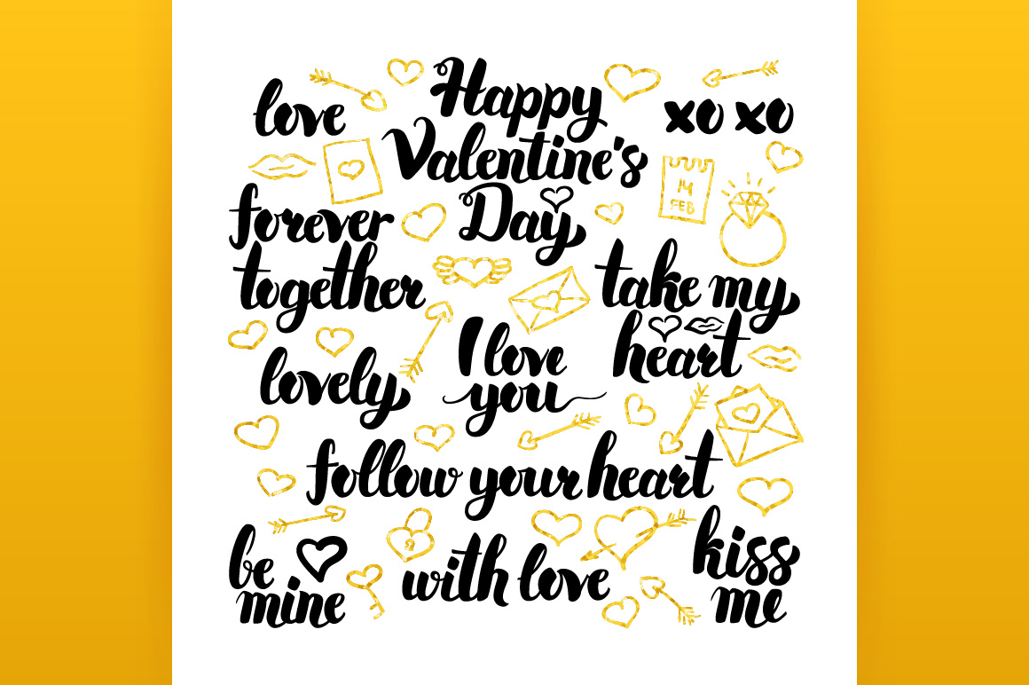 Happy Valentines Day Lettering example image 5