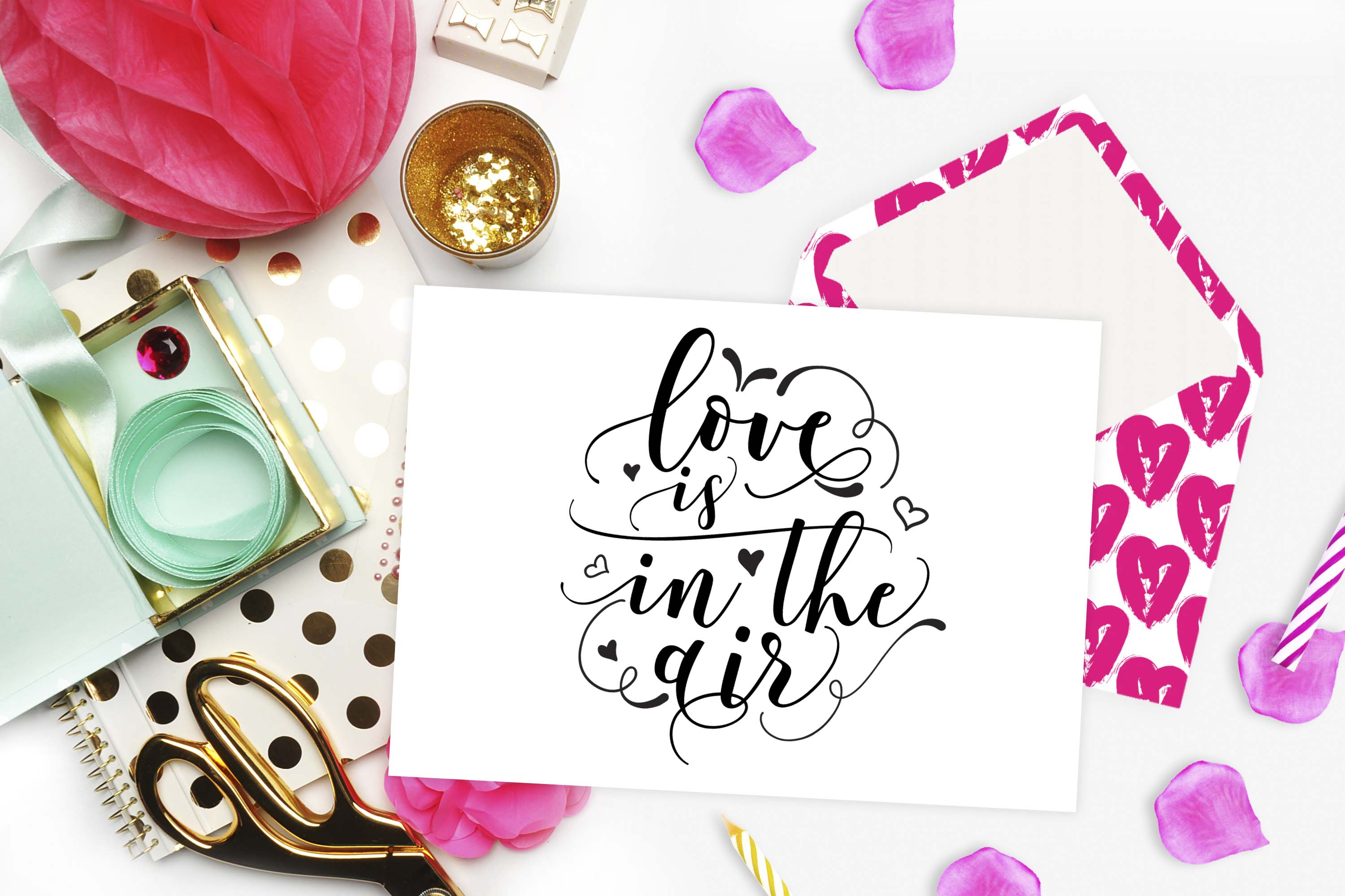 Love is in the air SVG DXF PNG EPS example image 2