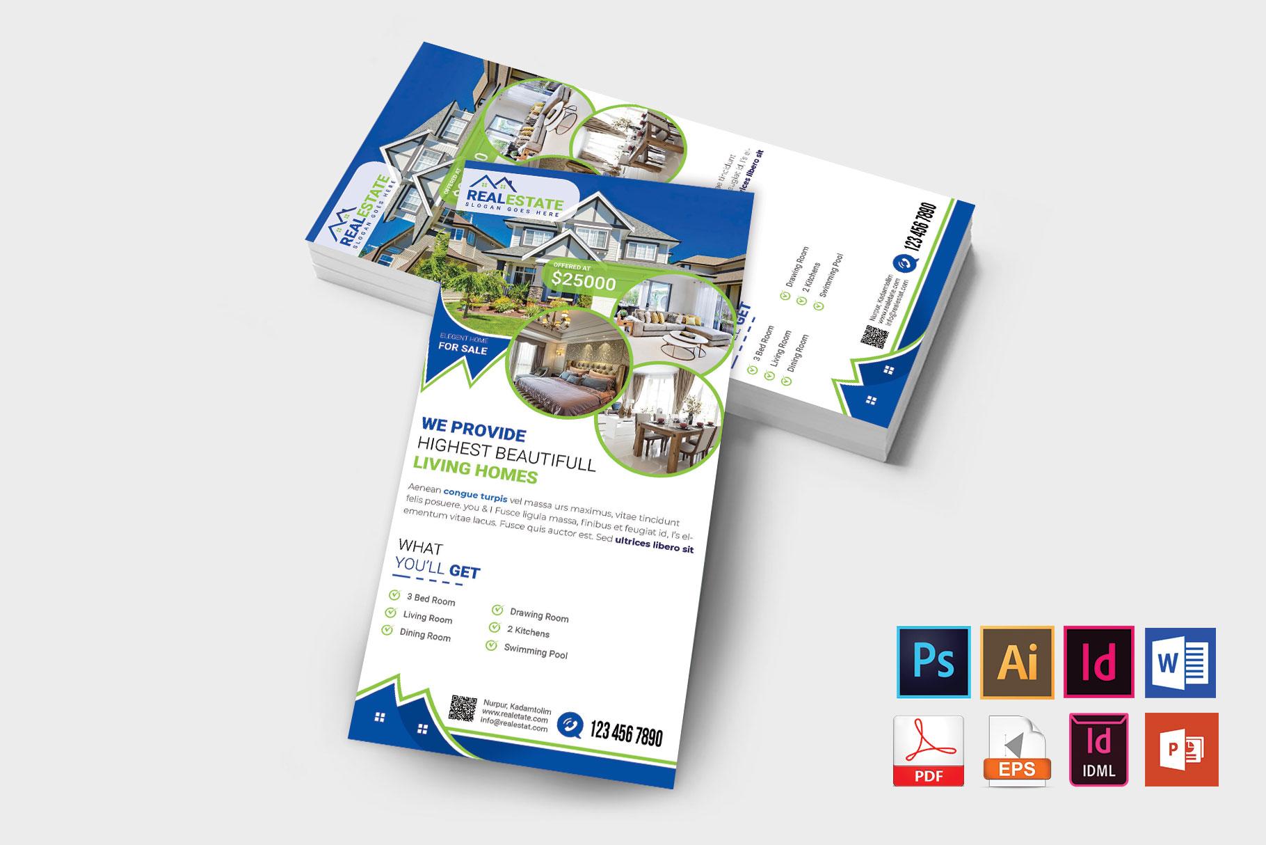 Rack Card | Real Estate DL Flyer Vol-02 example image 2