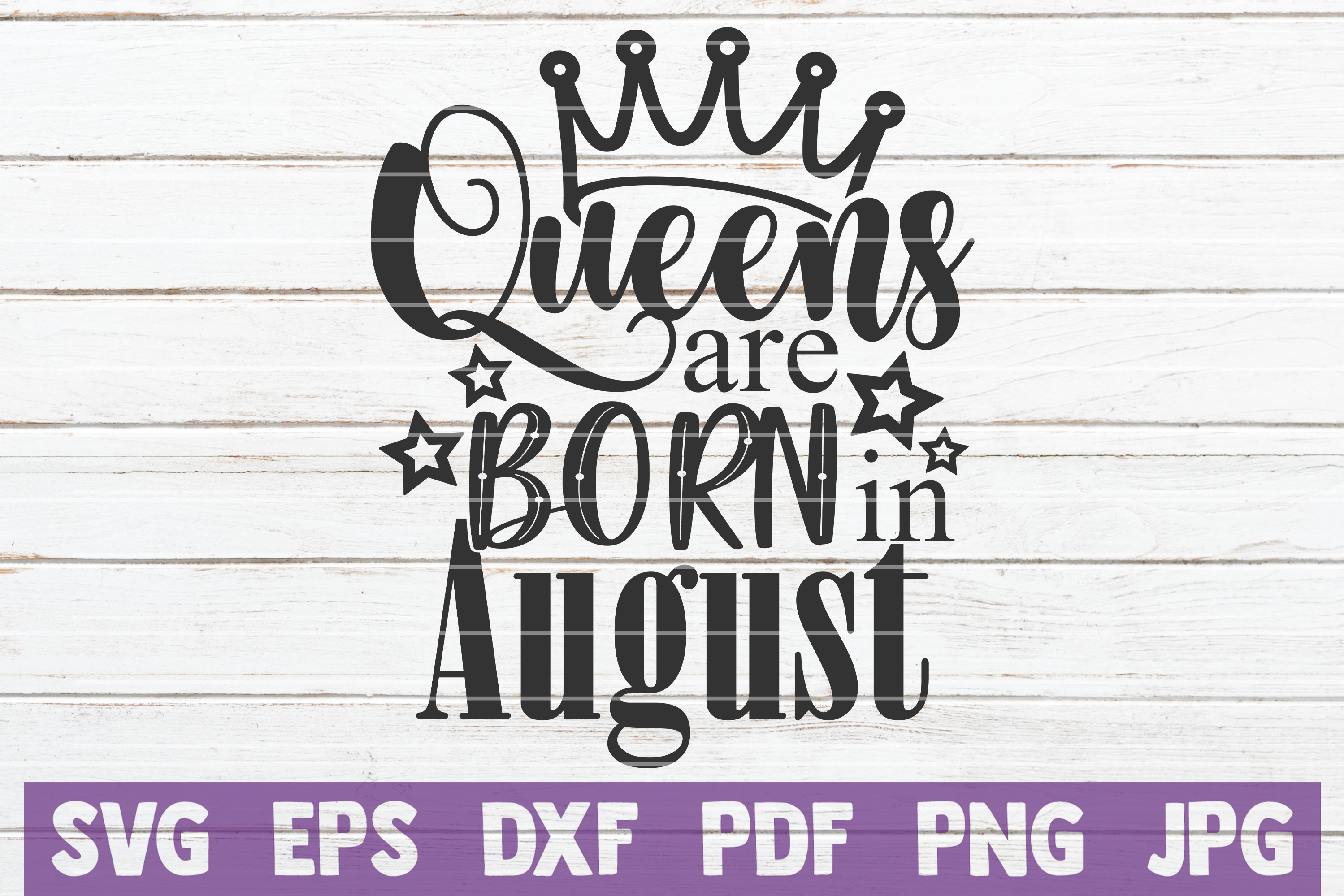 Queens Are Born In ... SVG Bundle | Birthday girl Cut Files example image 3