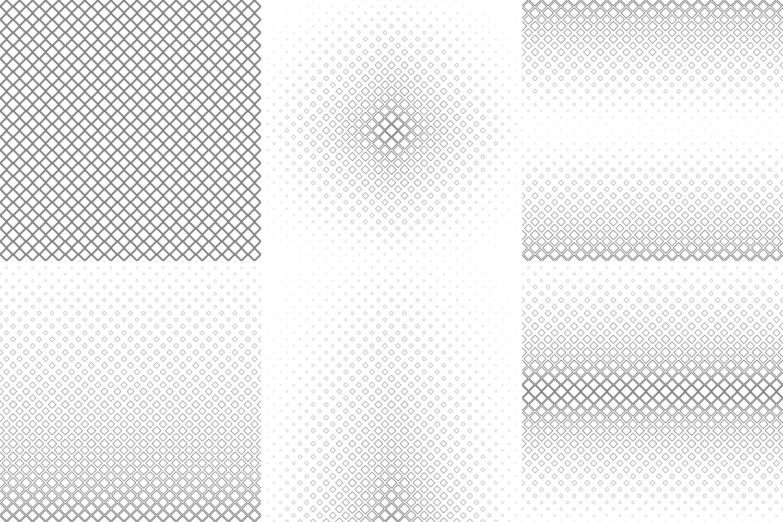 24 Square Patterns (AI, EPS, JPG 5000x5000) example image 5