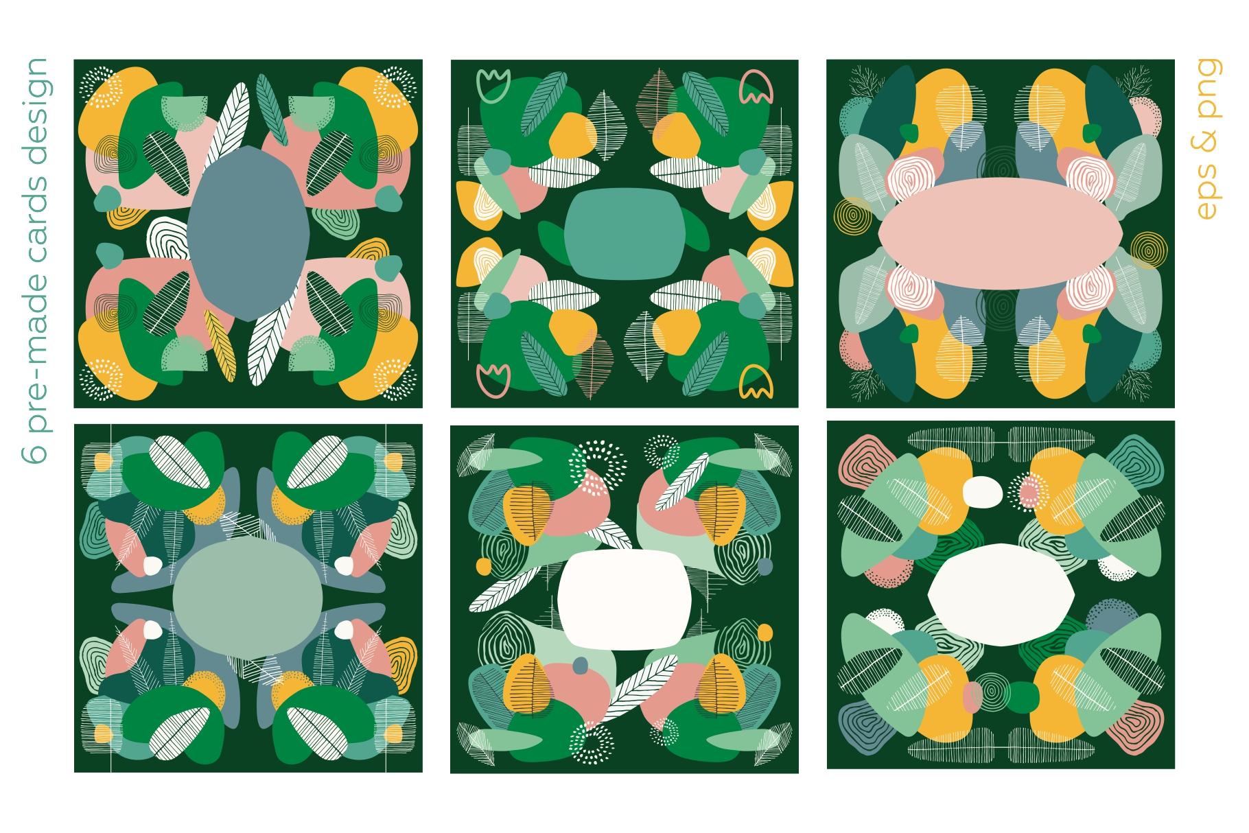 Seasonarium. Abstract botanical pattern and graphic set. example image 9