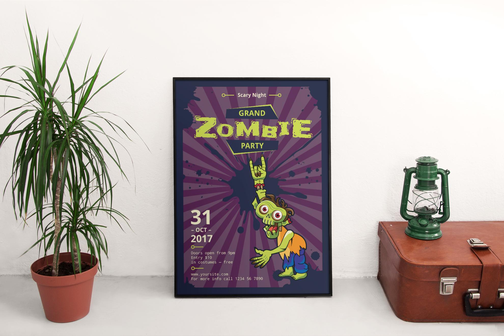 Zombie Party Design Templates Bundle example image 4