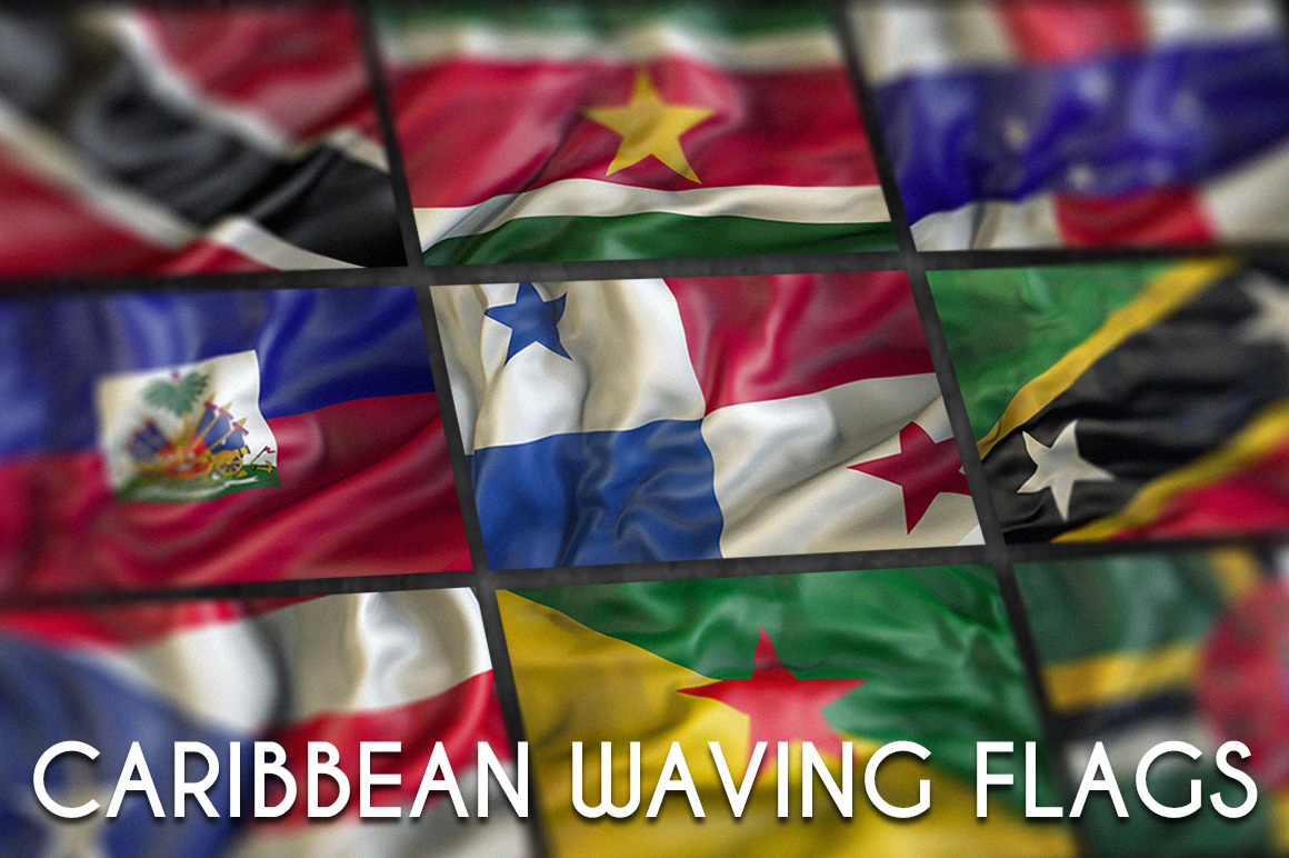 Caribbean Waving flags example image 1