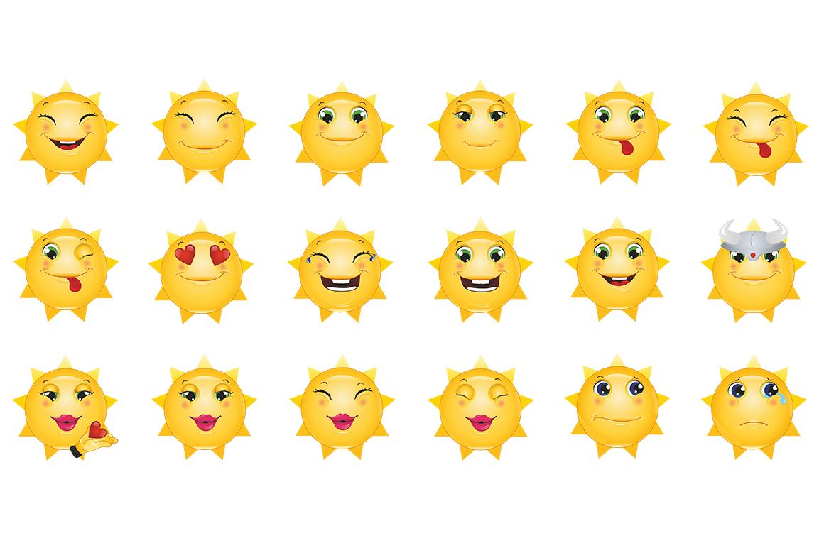 Emoticons Sun example image 13