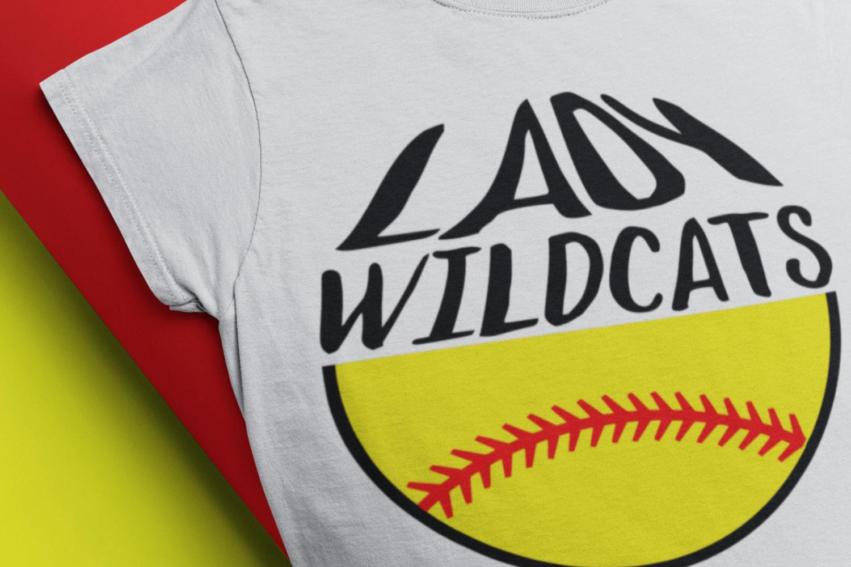 Wildcats Softball Svg Softball Mom Lady Wildcats T Shirt Svg