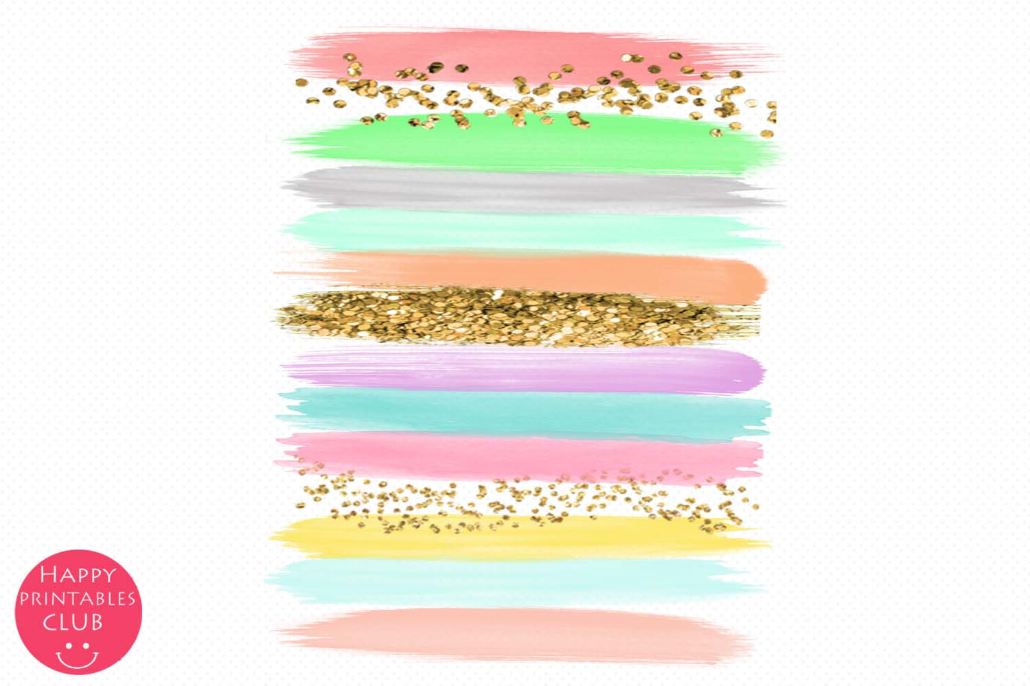 Pastel Colors Brush Strokes- Pastel Brush Strokes Clipart example image 3