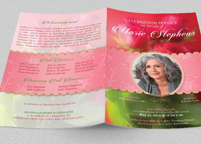 Decorative Funeral Program Template example image 2