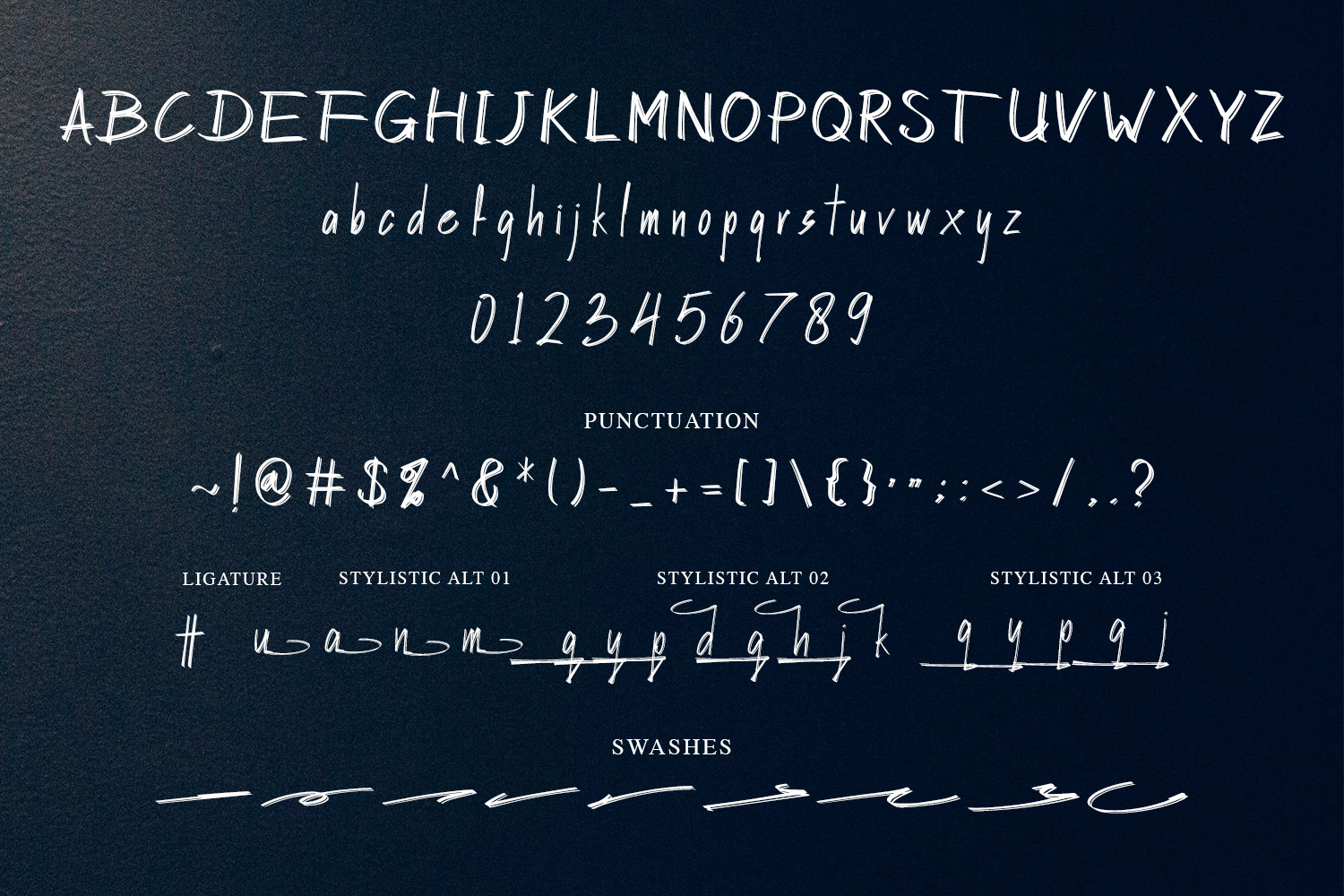 Hasley Dabrown Dual line Handbrush Font example image 10