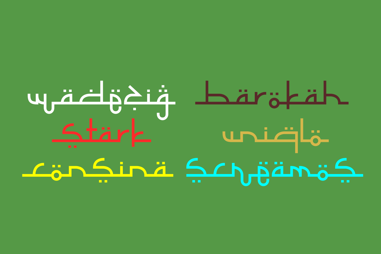 Selamet Lebaran // Arabic Fauxlang Font example image 3