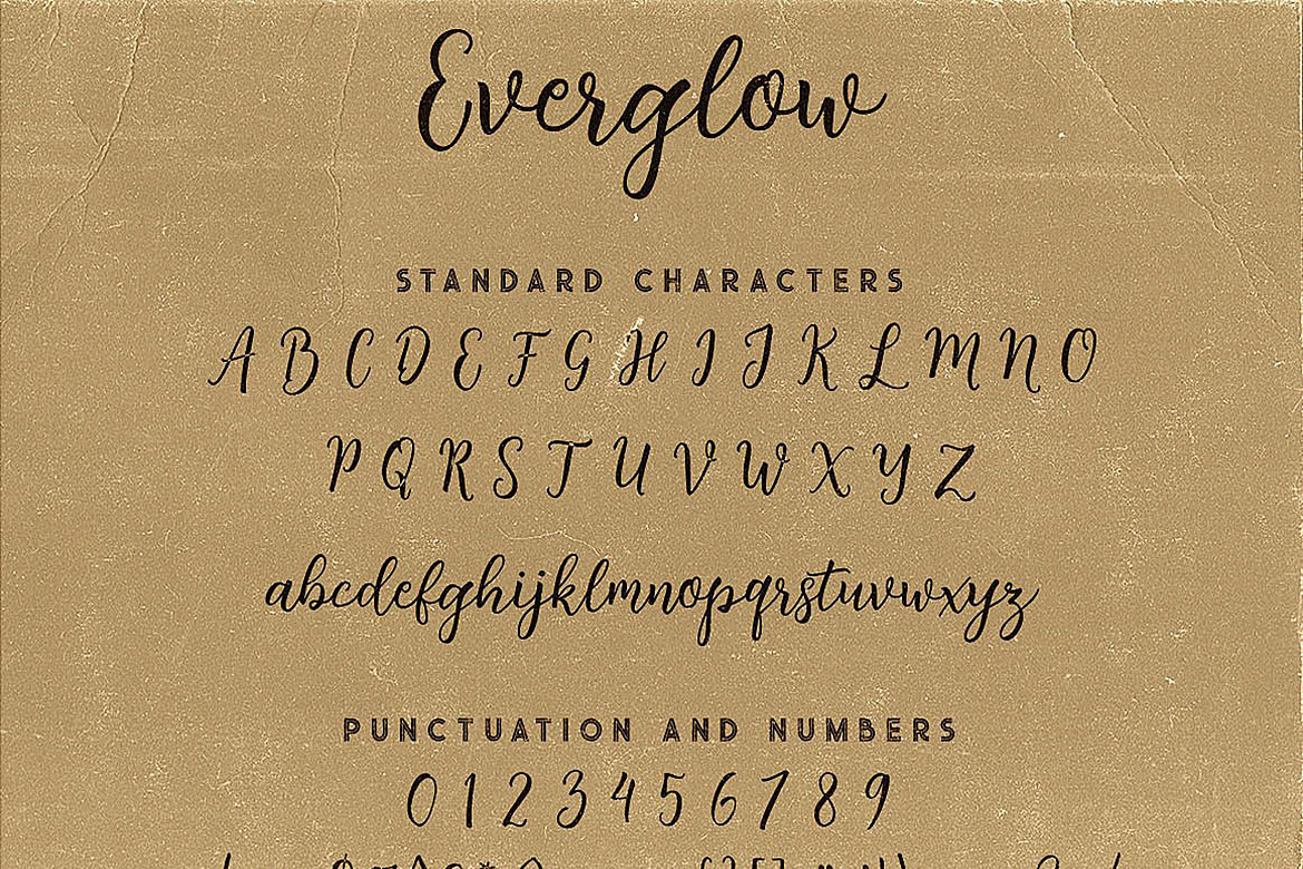 Everglow Script Font Duo example image 7