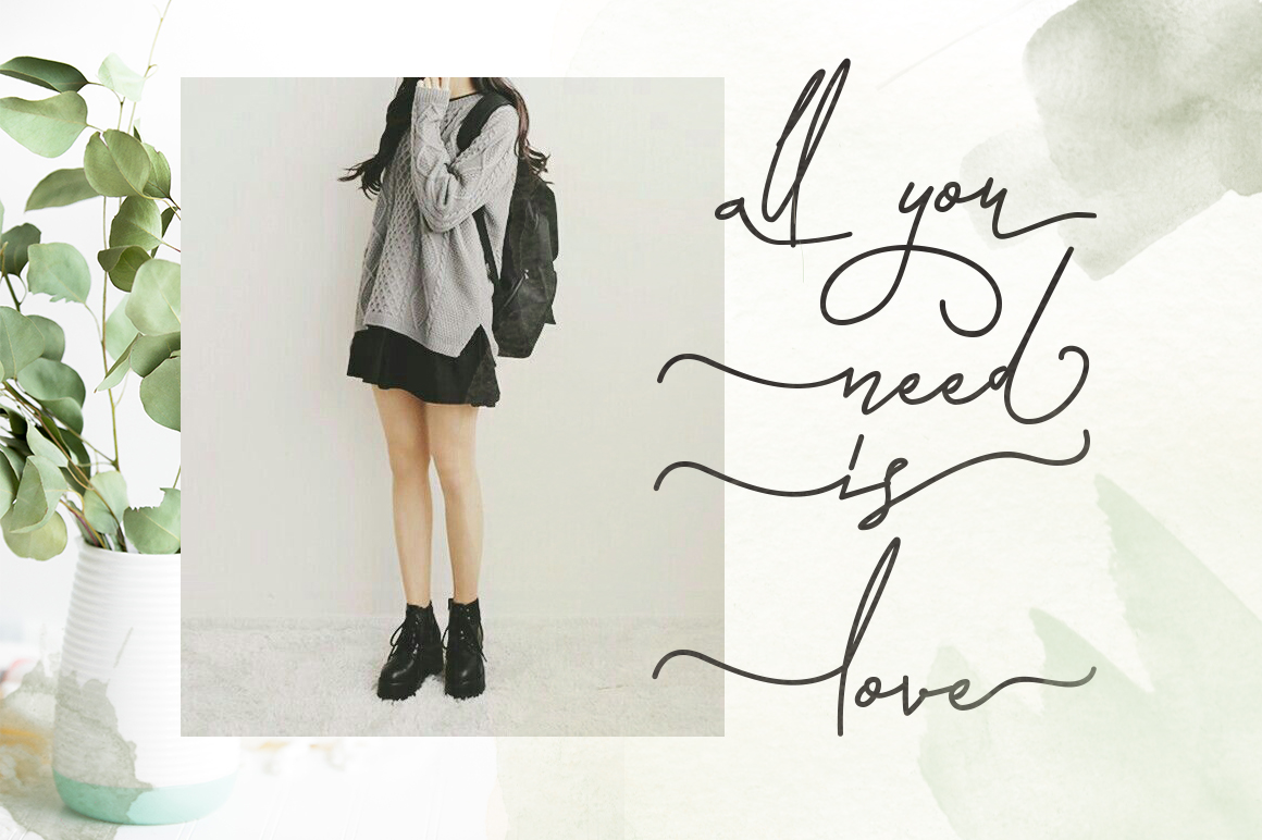 Laura Hellaw a lovely script font example image 6