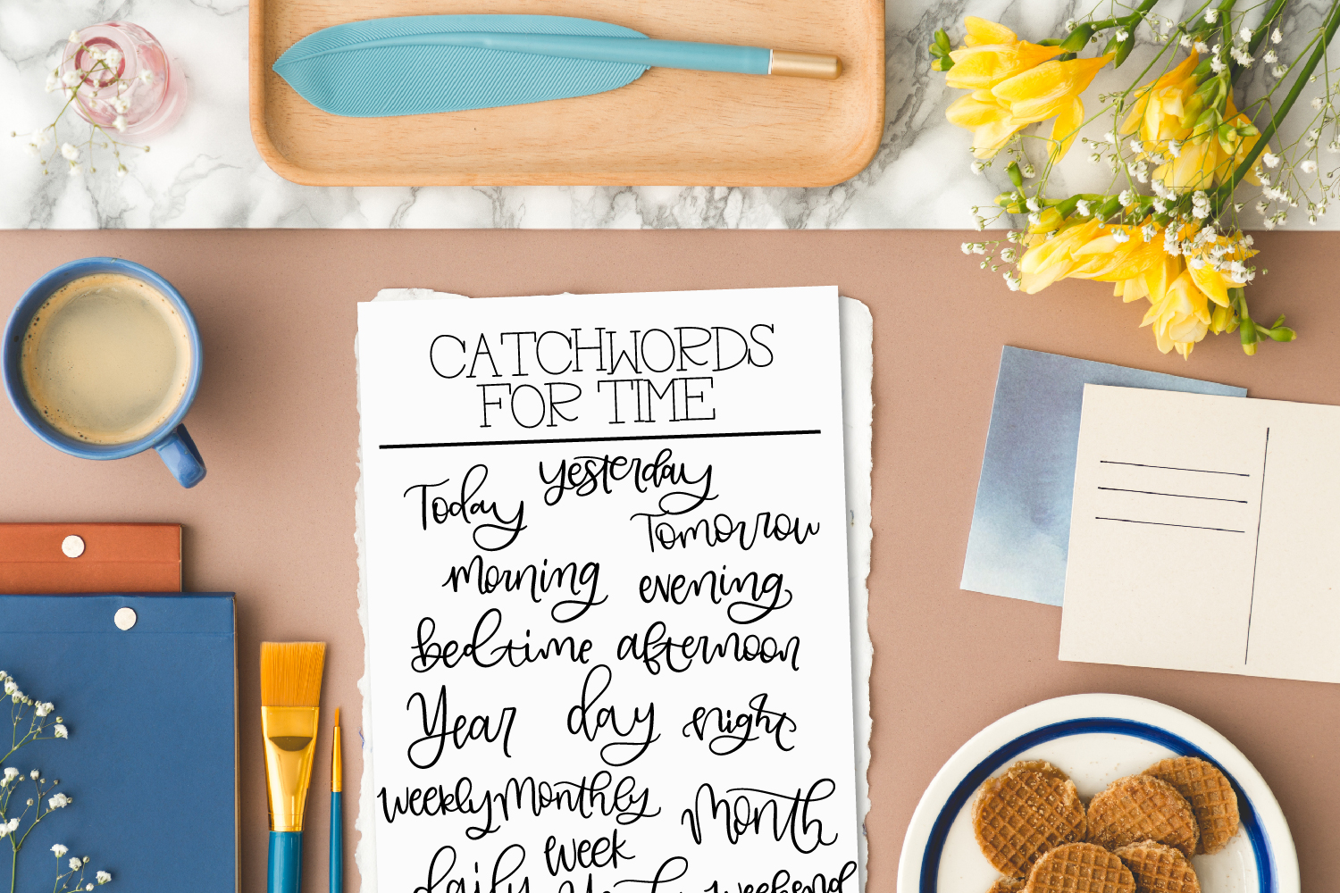 Planner Catchwords - Over 100 Catchwords In Font Form example image 8