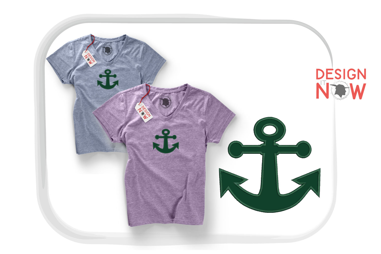 Anchor Applique Embroidery Design, Sea Embroidery Pattern example image 1