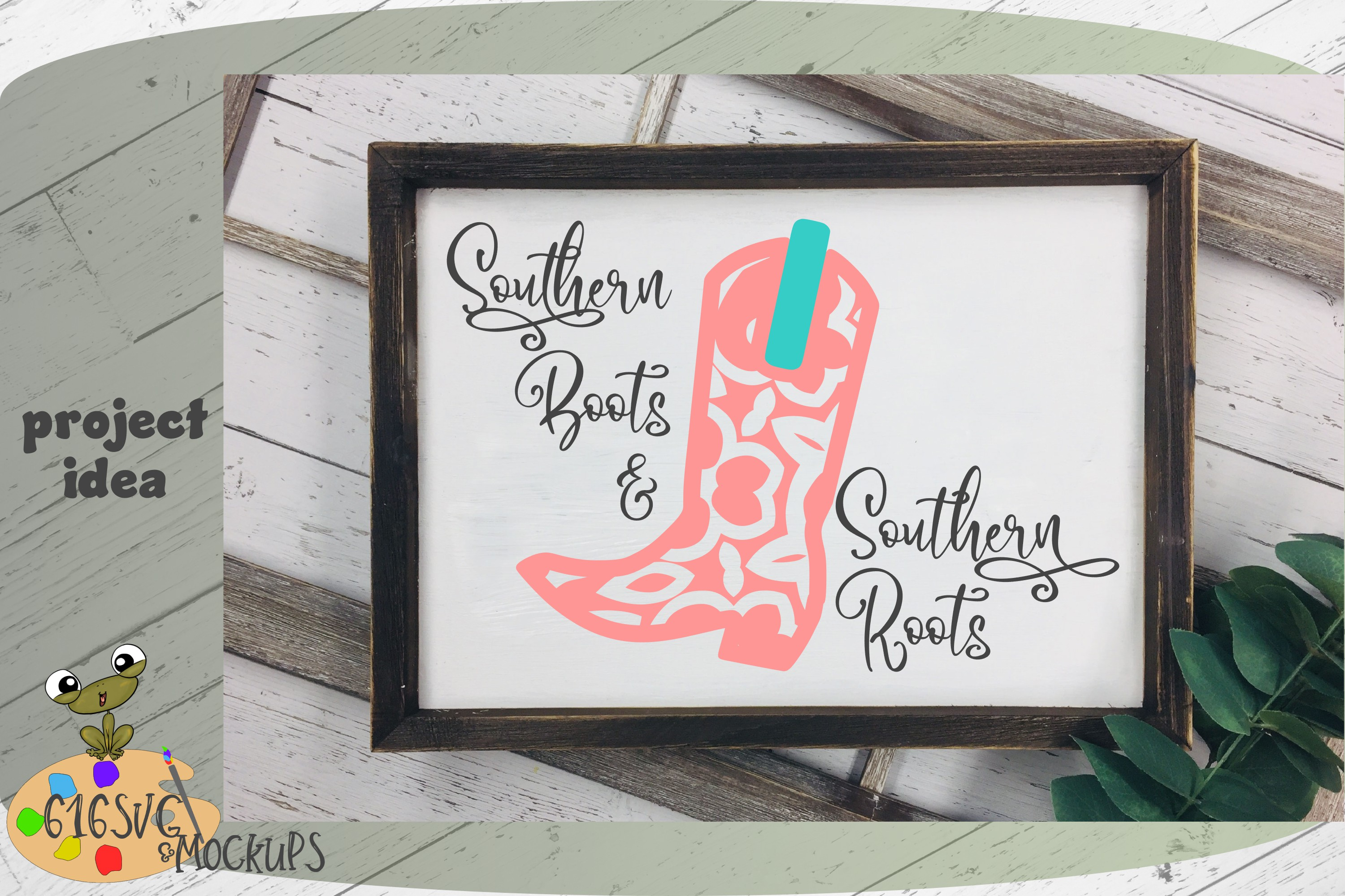 Southern Boots & Southern Roots SVG example image 5