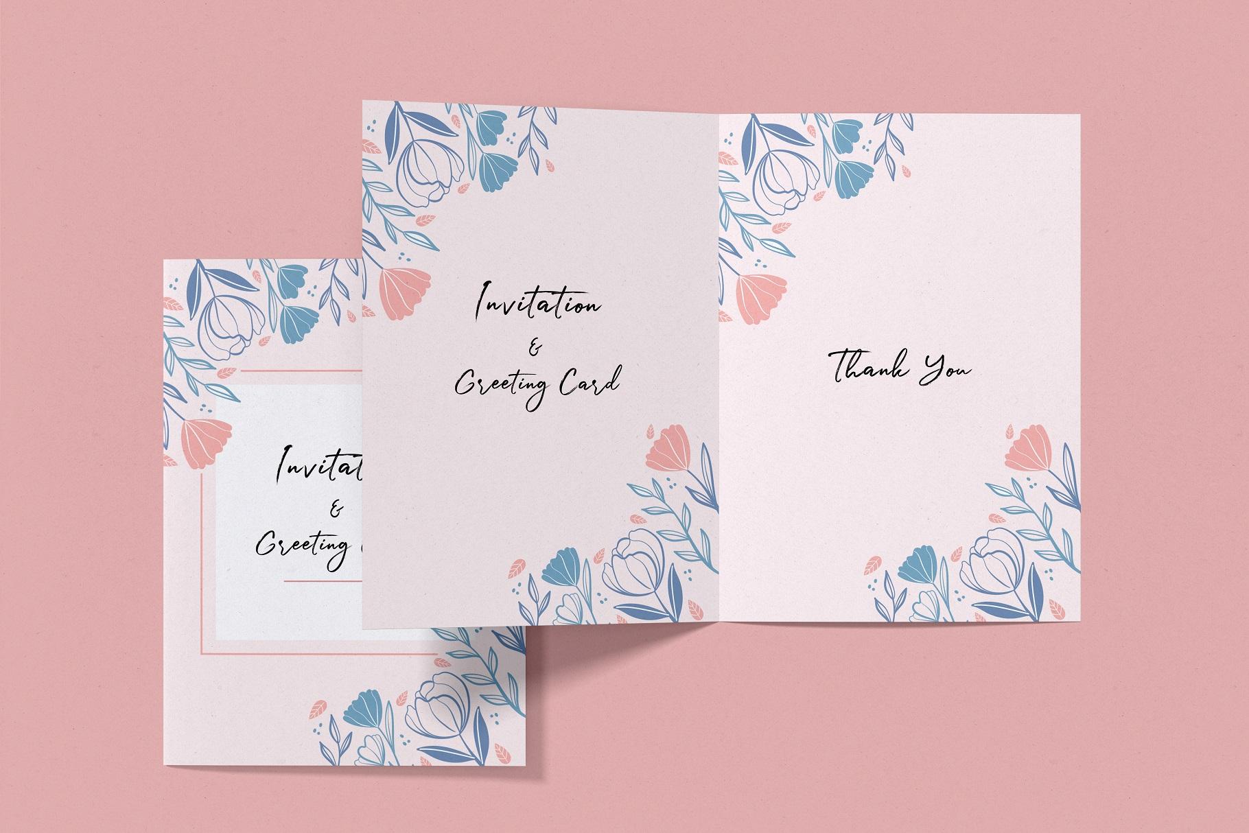 Invitation & Greeting Card Mockup example image 13