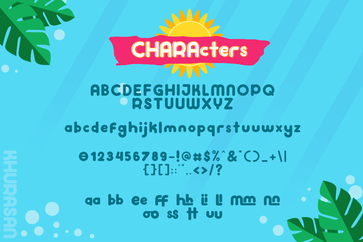 Hi Summer Layered Font example image 5