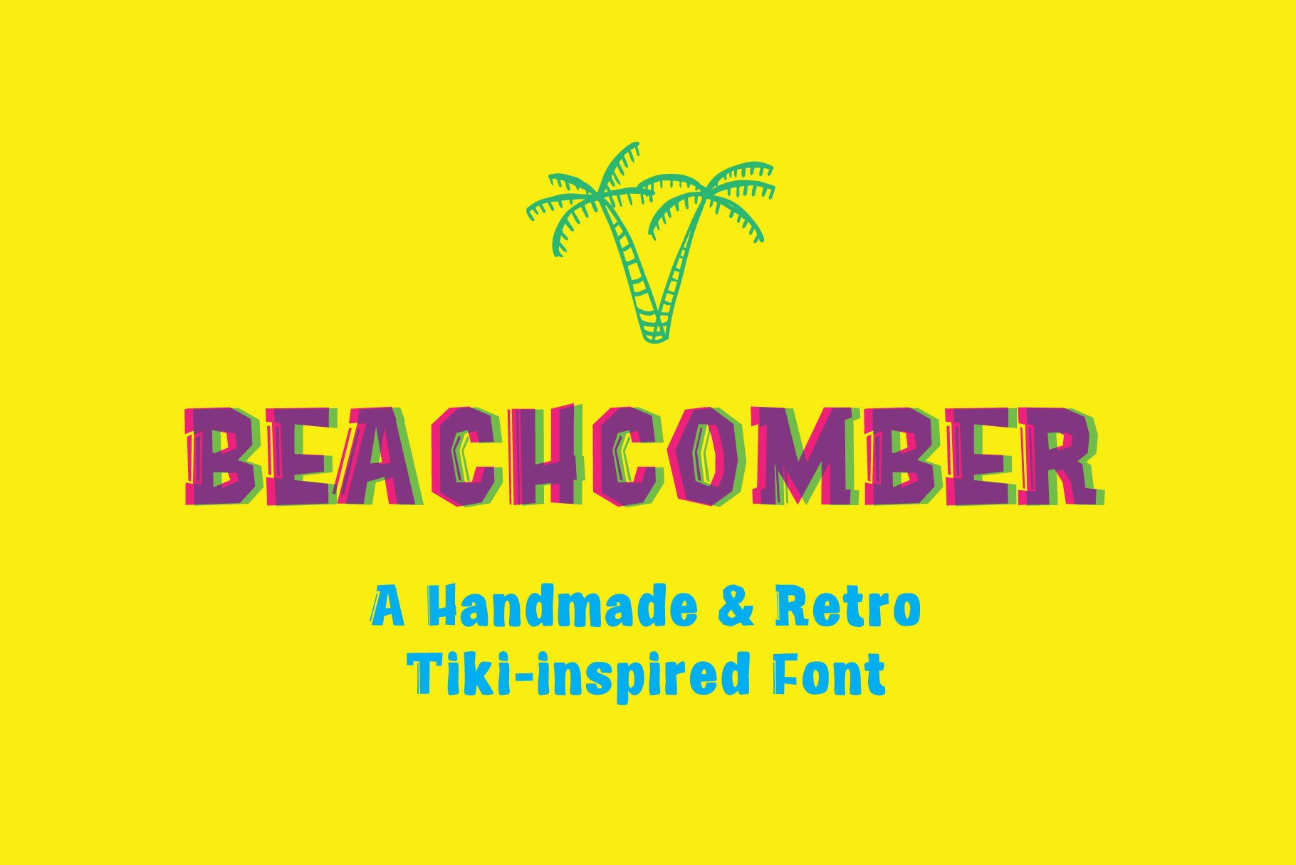 Beachcomber Font & Illustrations example image 1
