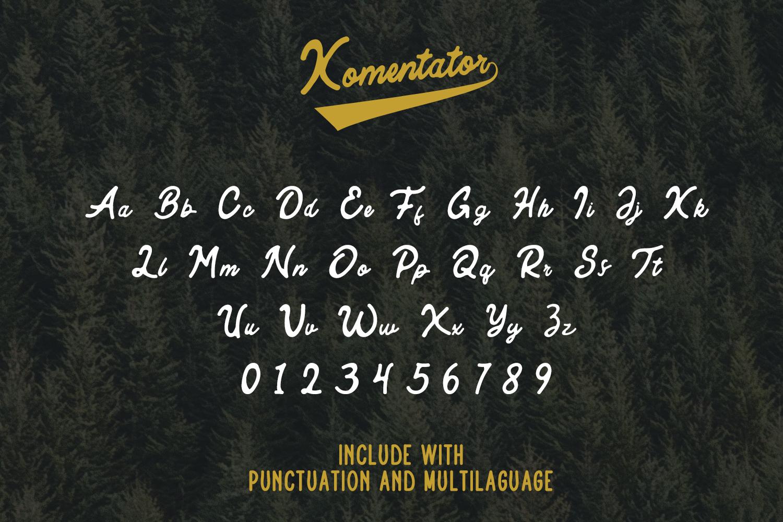 Komentator Vintage Font example image 4
