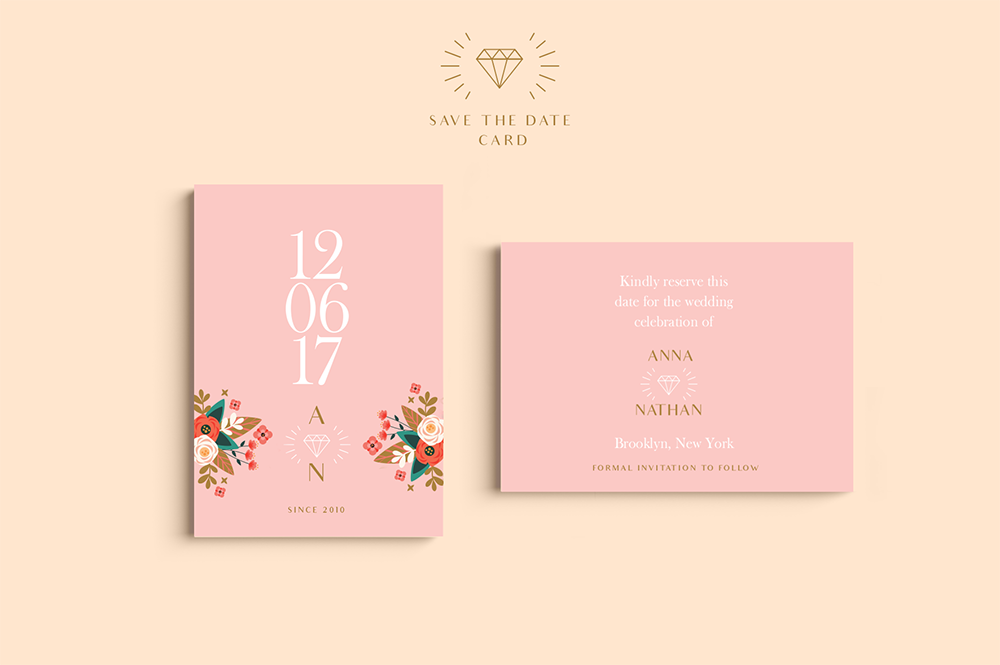 Peach Wedding Set example image 2