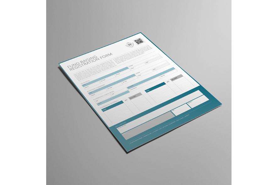 Fund Raising Registration US Letter Form example image 3