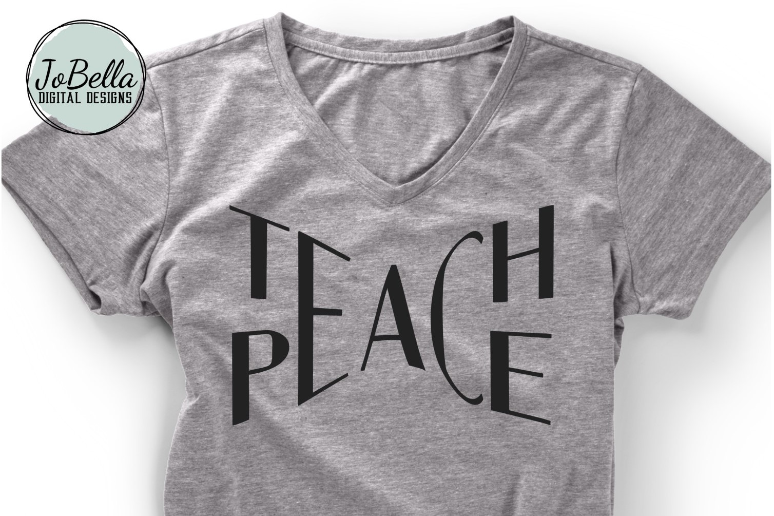 Teach Peace SVG and Printable example image 1