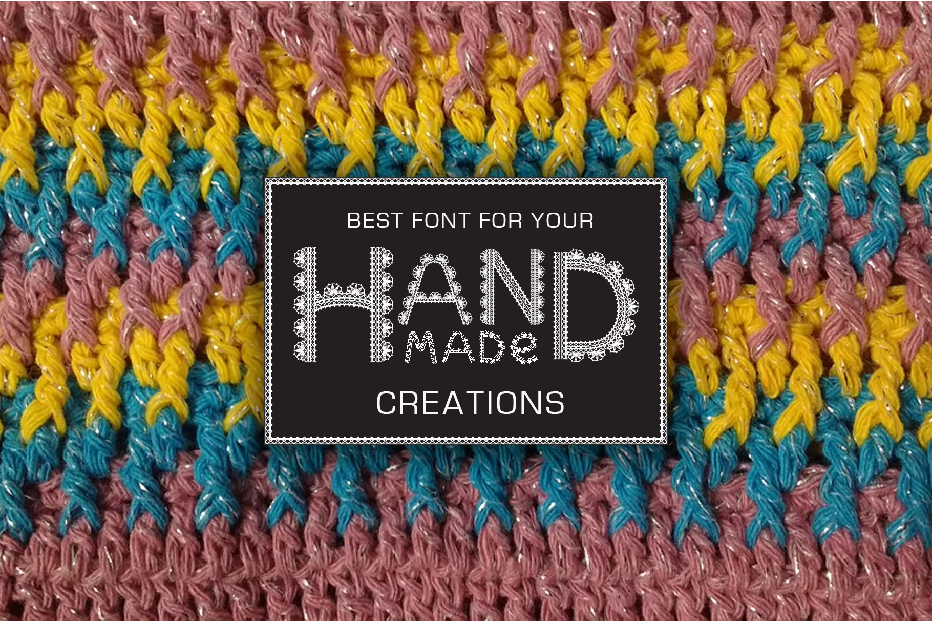 Crochet - svg craft lace font example image 4